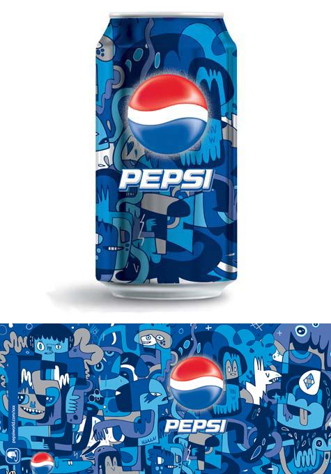 Jon Burgerman / Pepsi Can Artwork