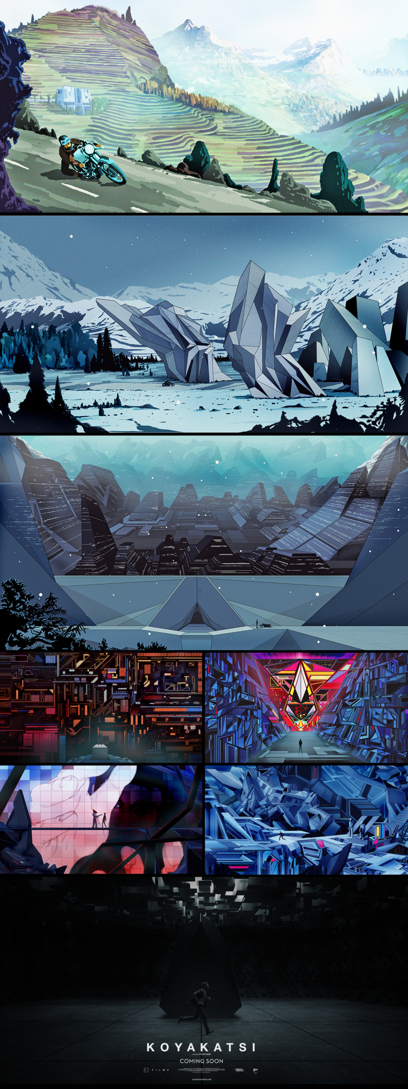 Kilian Eng / Concept Art For Koyakatsi Feature Film