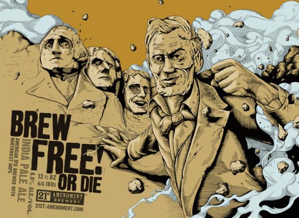 Joe wilson 21st amendment beer packaging news debut art for C furniture coningsby