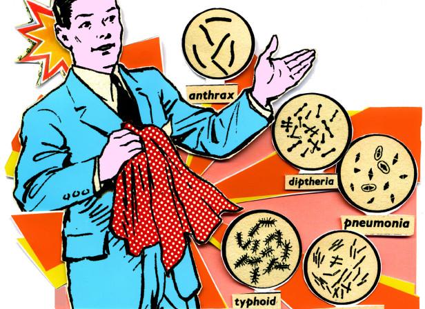 Handkerchief Bacteria Germs GQ