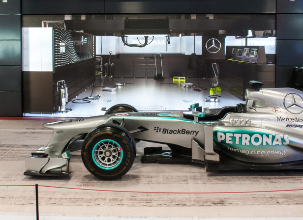 Mercedes F1 Full Shot In Situ