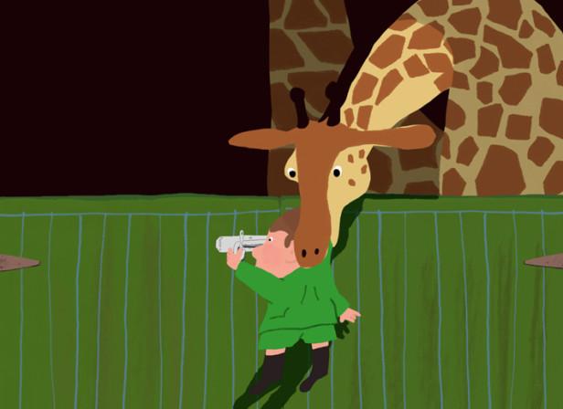 Mr Peek And The Misunderstanding At The Zoo Giraffe
