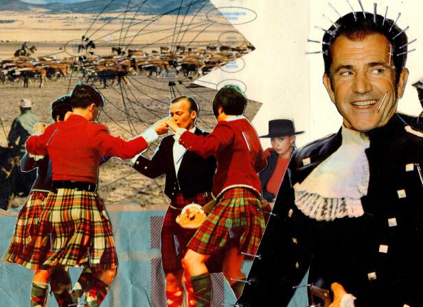 Braveheart Mel Gibson Scottish Collage