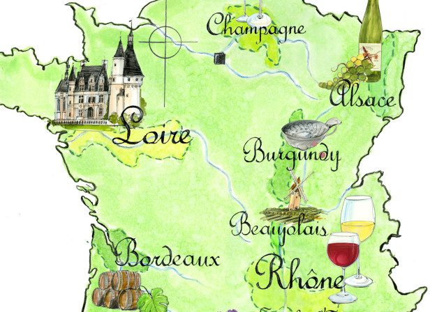 Wine Regions Of France Map / Waitrose
