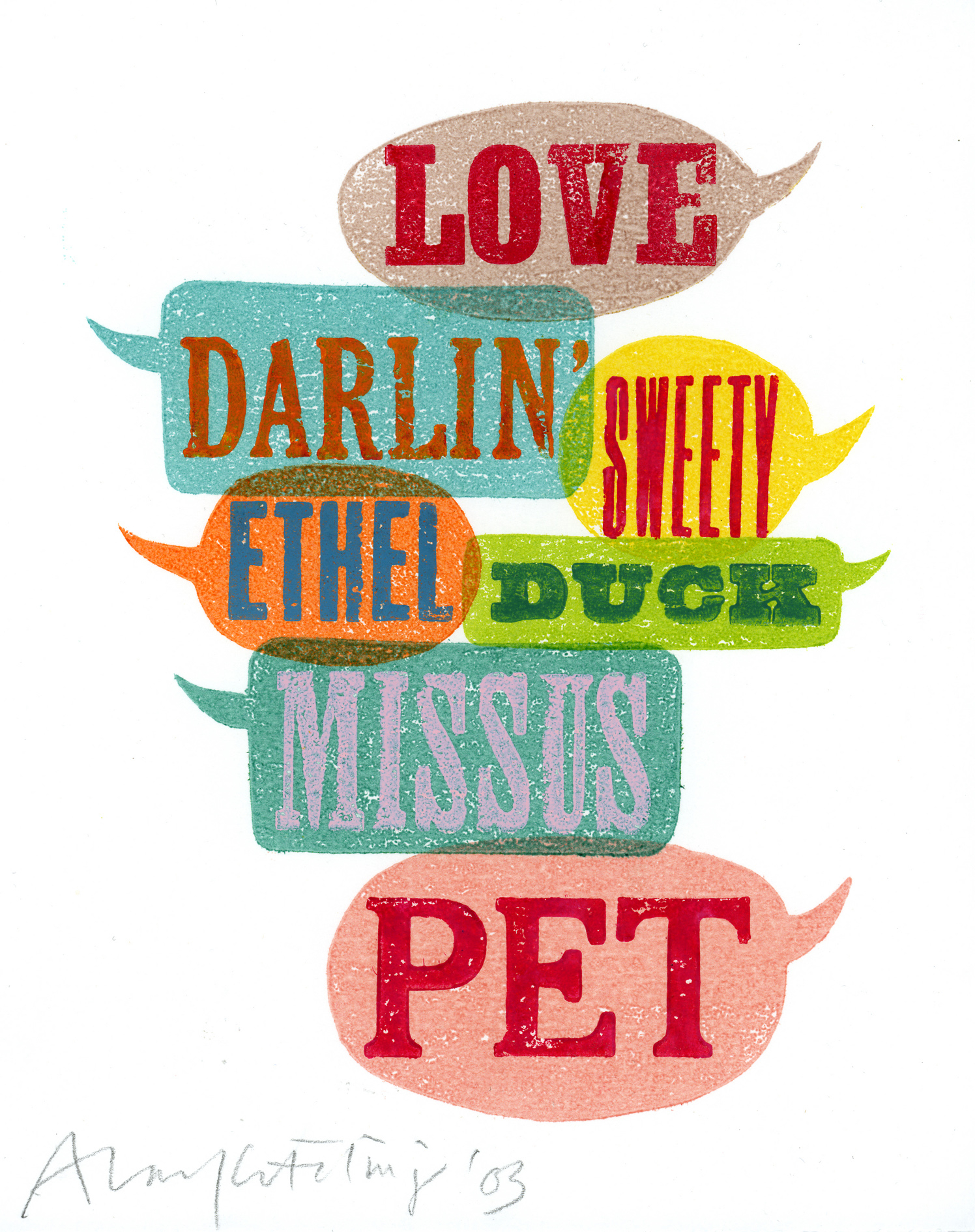 Love, Darlin', Sweety