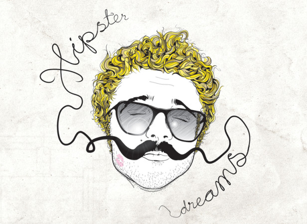 Hipster Portrait Typography