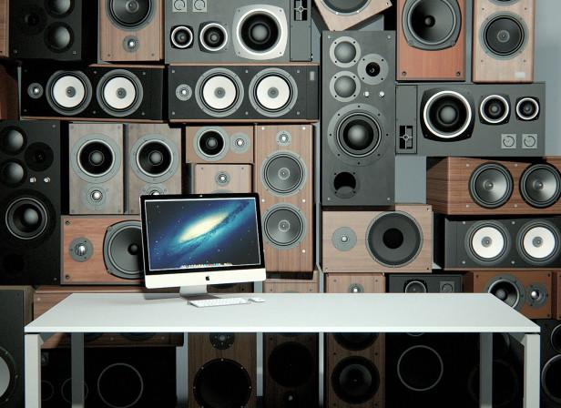 Desk Speakers Sound System Office Mens Health