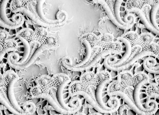 Fraying White Lace Detail
