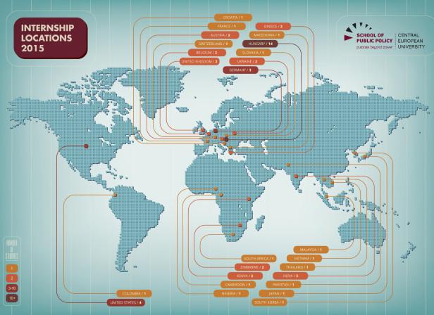 Internship Locations Map