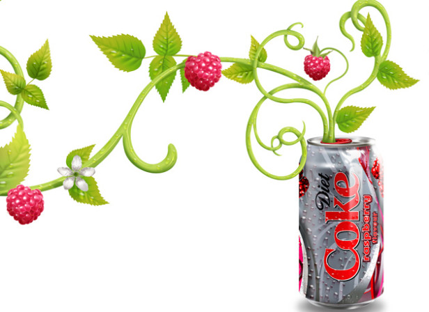 Raspberry Diet Coca Cola