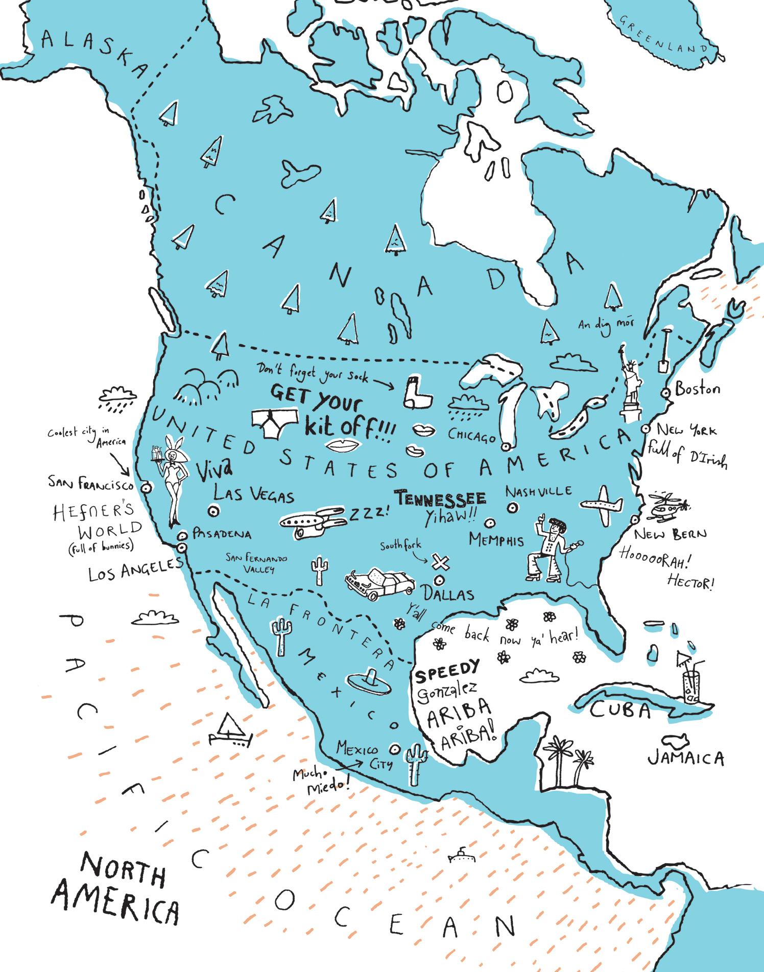 Visiting America Map