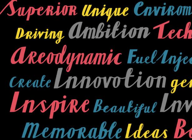 Cobb Car Typography