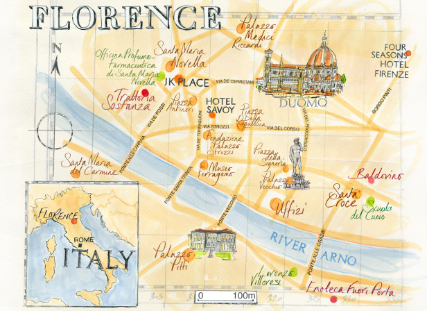 Florence Map / Conde Nast Traveller Magazine