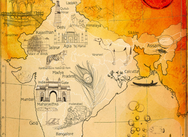 Map India / LA Times
