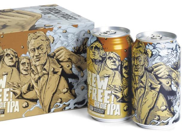 Brew Free Or Die IPA- 21st Amendment Brewery Packaging