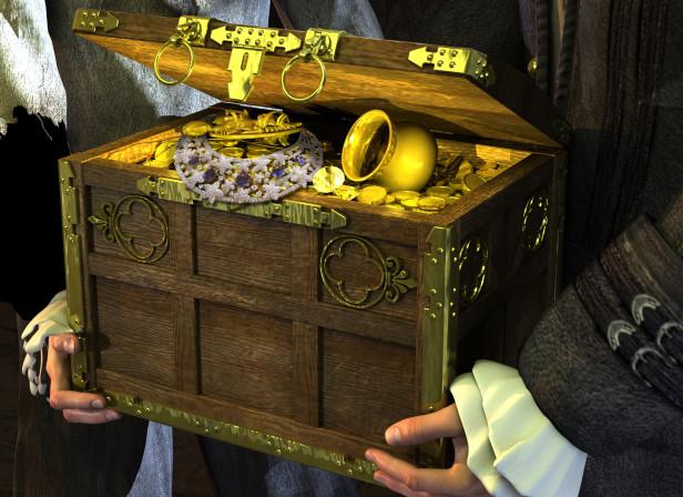 Pirate Treasure Chest Book Cover