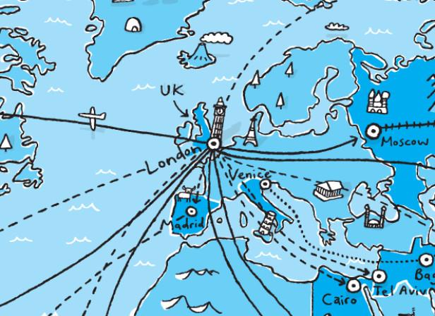 The World Of Karl Pilkington World Map