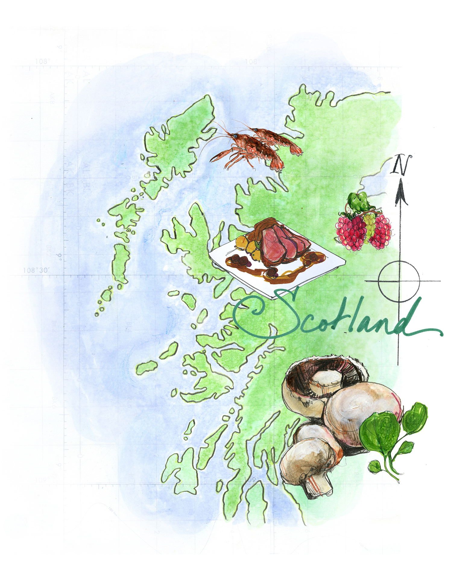 Scotland Map The Times Newspaper