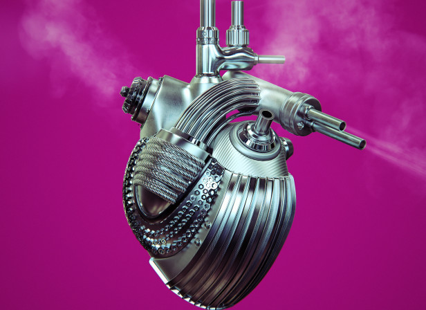 Metal Mechanical Heart Steam Men's Health