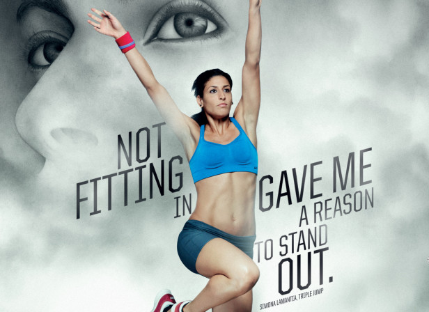 Woman Cloud Portrait On Nike Poster