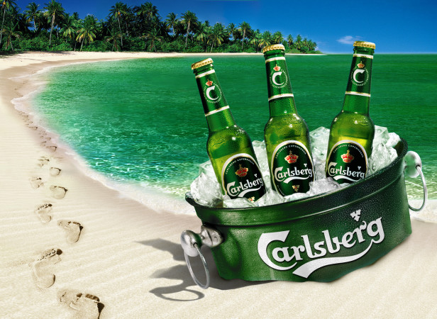 Beach Beer Bucket / Carlsberg