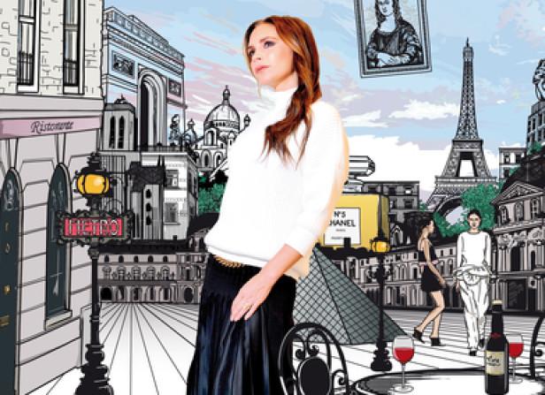 Victoria Beckha In Paris / Jetaway Travel Magazine