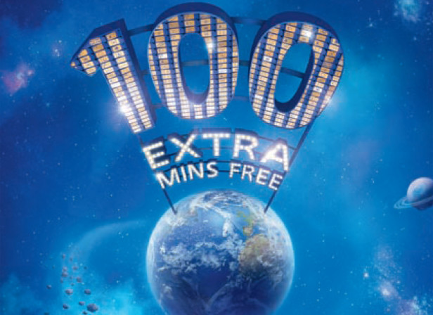 O2 100 Extra Mins Free