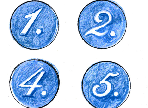 1-12 Numbered Dots
