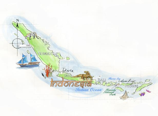 Indonesia Map Conde Nast Traveller