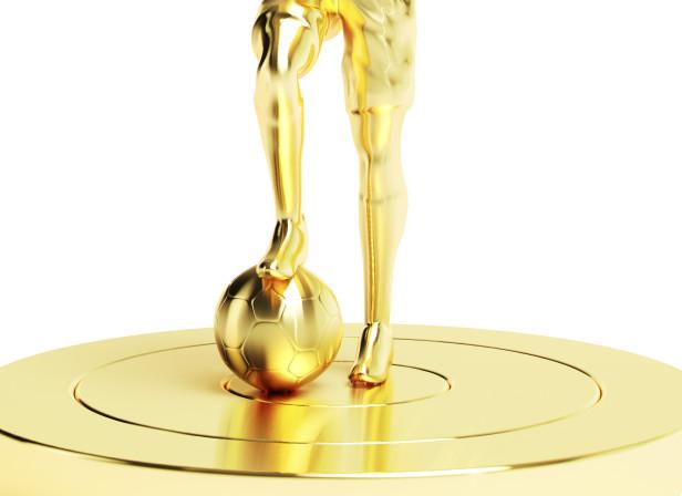 Gold Subbuteo Footballer Men's Health Magazine