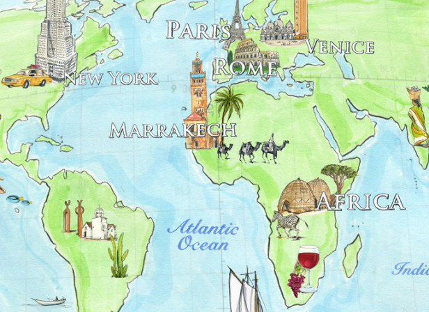 Luxx Jewellery Map Of The World Traveller