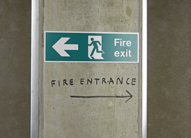 Fire Exit Fire Entrance The New Clapham Photo Thomas Butler