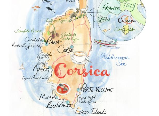 Corsica Map / Times Traveller