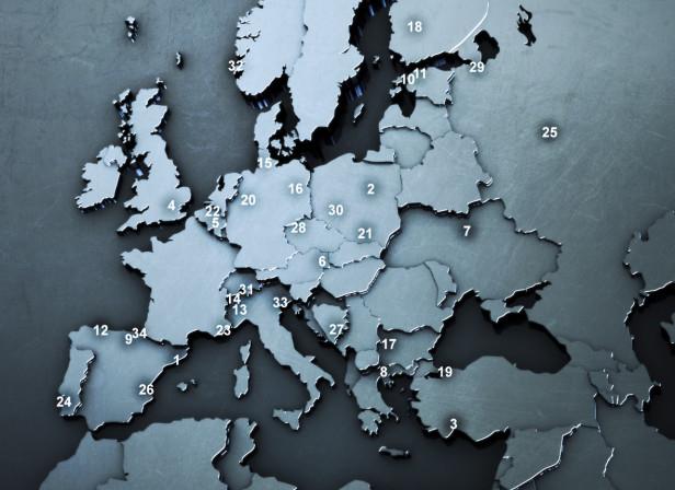 Metal Europe Map