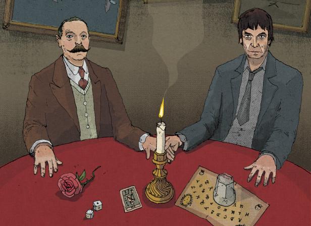 Conan Doyle and Ian Rankin / The Telegraph