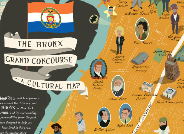 The Bronx Grand Concourse Map