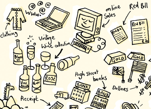British Airways Drawn Lifestyle Objects