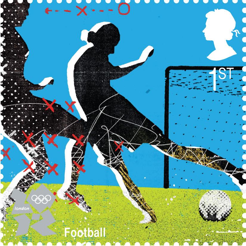 Olympics Ladies Football Stamp