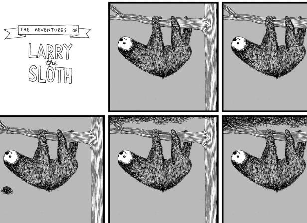 Larry The Sloth Strip / LE GUN