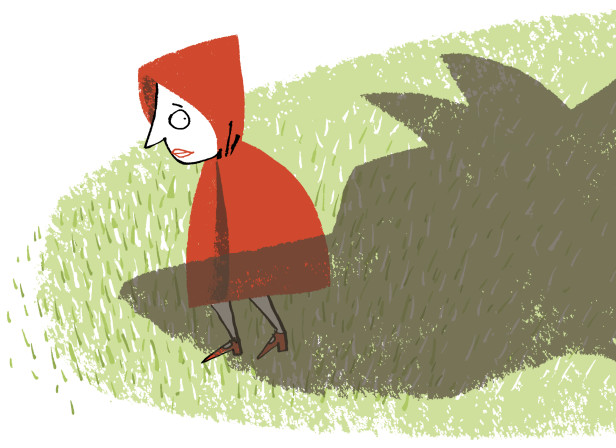 Fear of Growing Up Wolf Red Riding Hood / Psychology