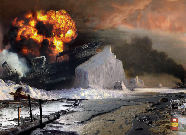 William Bradford-An Arctic Summer Oil Back Cut