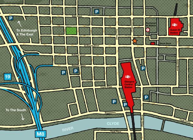 S&J Glasgow Map