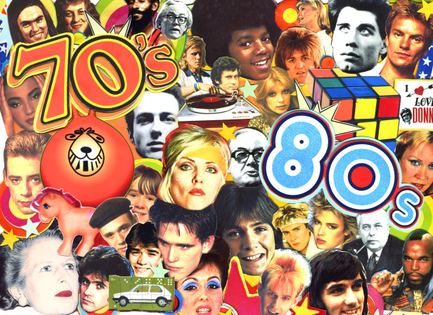 70's 80's Faces Nostalgia