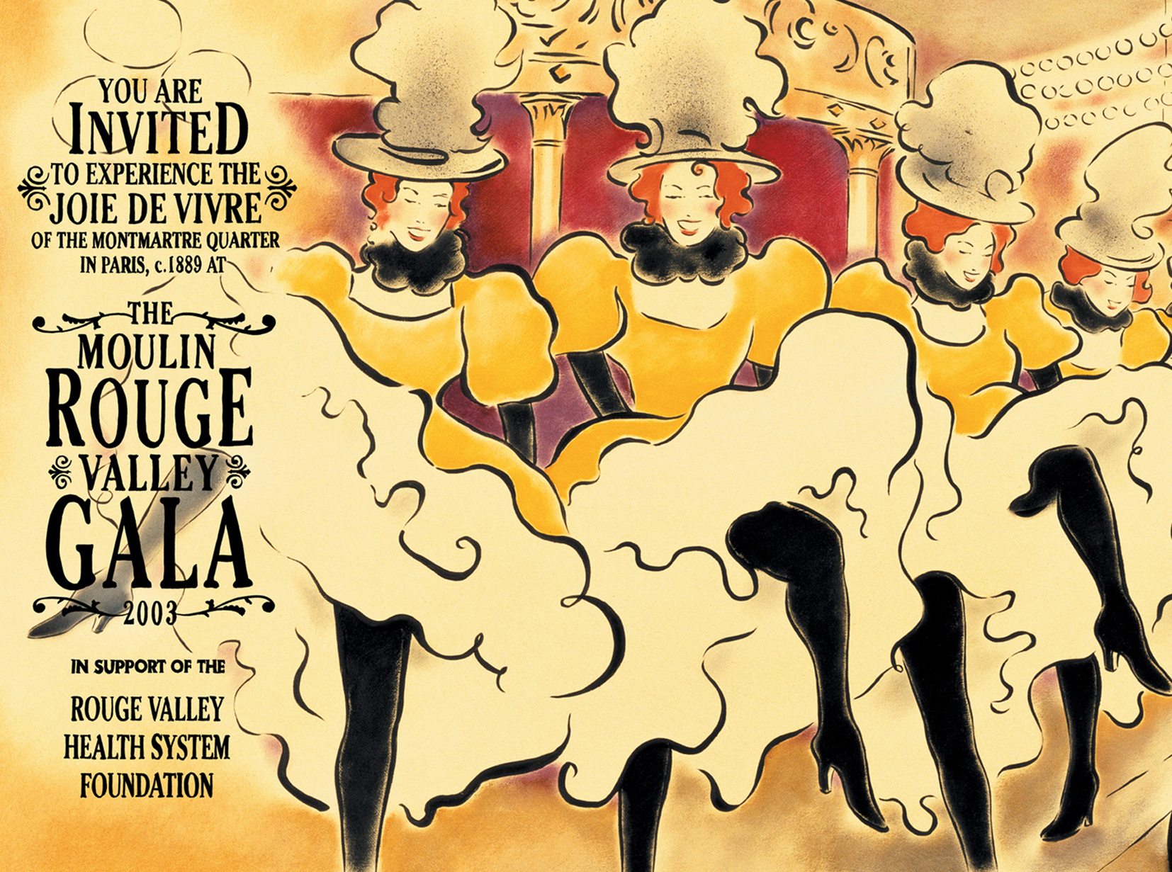 The Moulin Rouge Valley Gala Invite