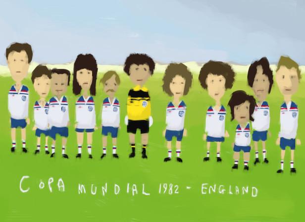 England World Cup 1982