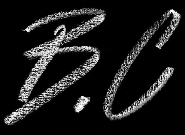 A.B.C. White On Black