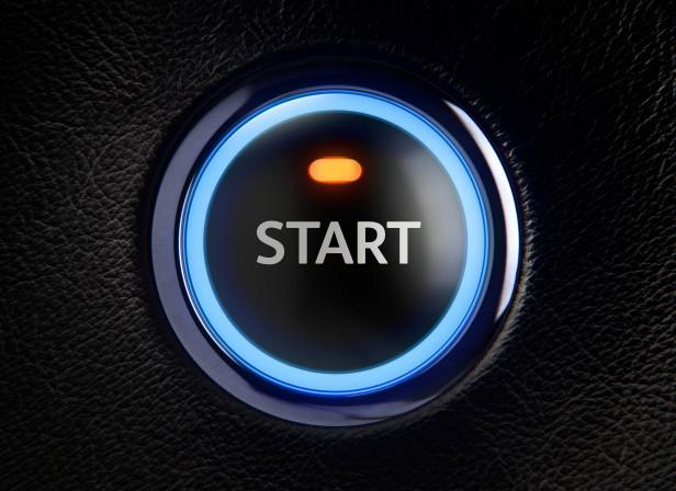Ignition START Button Leather Car Dashboard