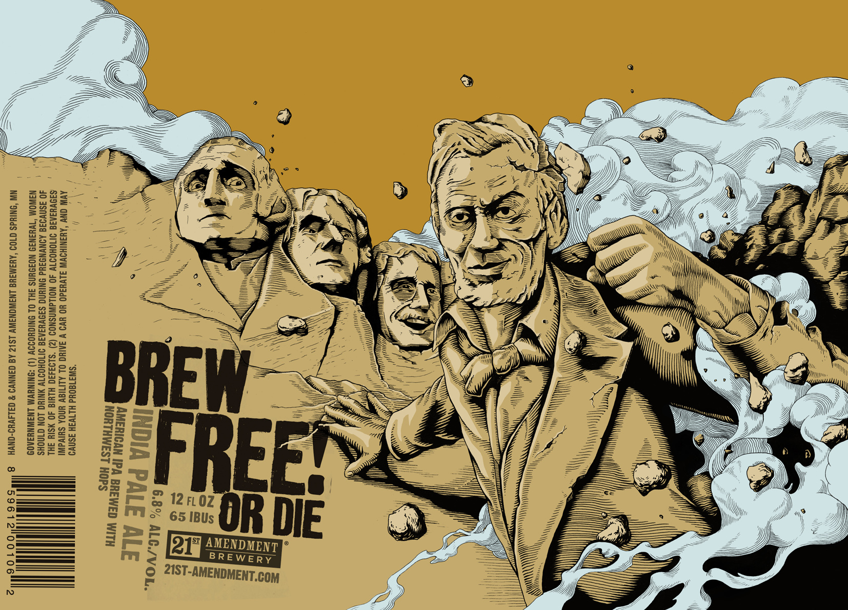 Brew Free Or Die - 21st Amendment Brewery Packaging