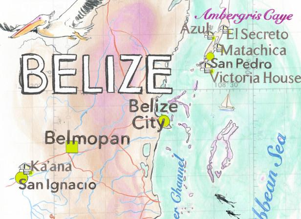 Belize Map Conde Nast Traveller