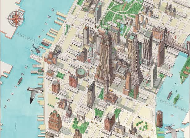 Manhattan Map / The Times